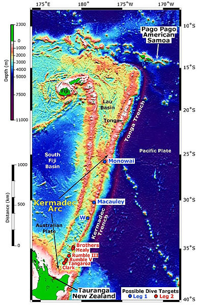 Kermadec Arc via wikipedia